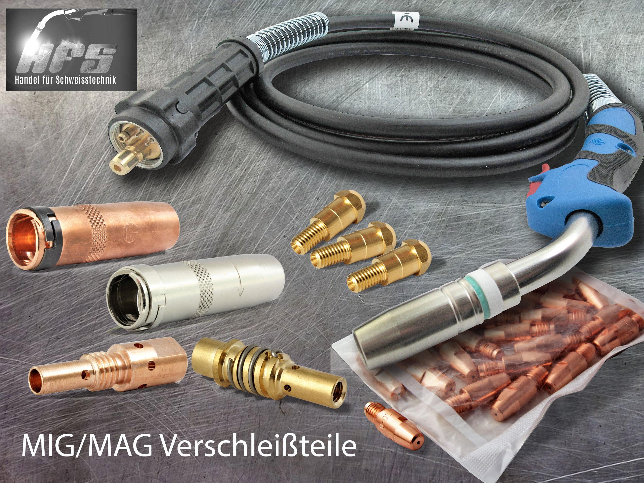 MIG/MAG Zubehör Ersatzteile Verbrauchsmaterial Verschleißteile Schweißzubehör