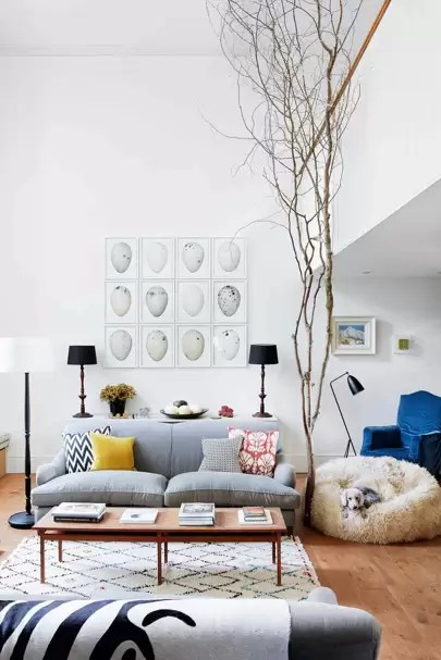 living rooms with grey sofas contemporary prints for room house garden pale sofa