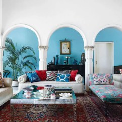House Of Turquoise Living Room Area Rug Placement Blue Ideas Paint For Rooms Garden