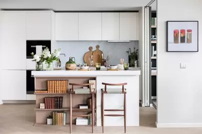 interior design for small living room and kitchen furniture pictures only open plan ideas house garden white modern