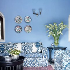 Blue Walls Living Room Gray Furniture Ideas Paint For Rooms House Garden