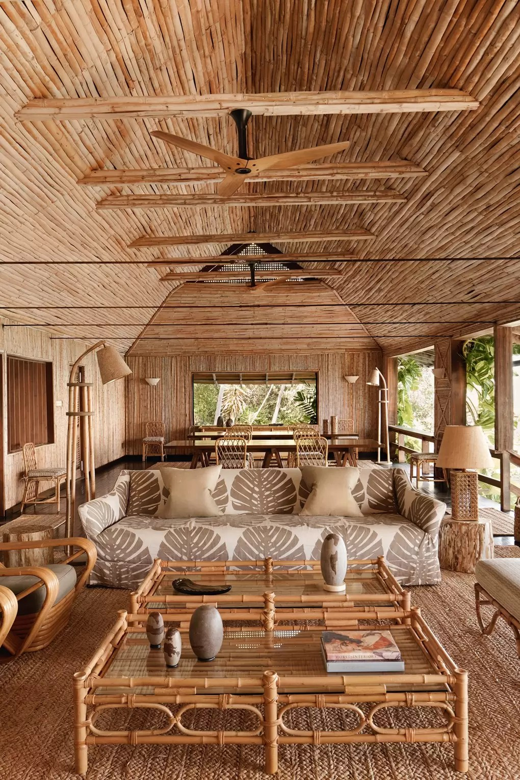 Low Cost Bamboo House Design : bamboo, house, design, Bamboo, Beach, House, Mustique, Designed, Veere, Grenney, Garden