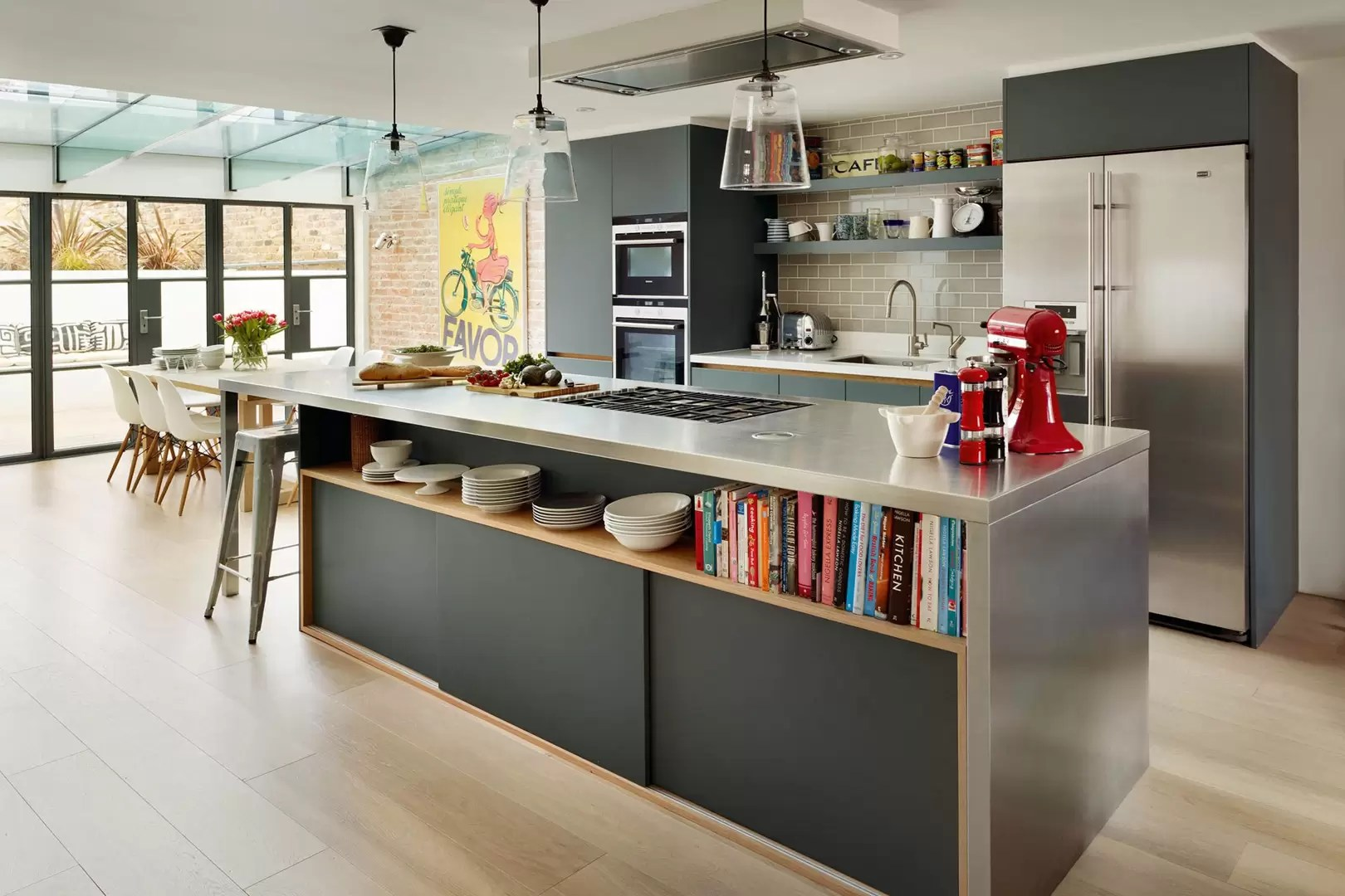 living room kitchen dining layouts how to paint ideas open plan diner and house garden