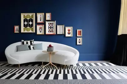 living room wall colour designs firniture colours color ideas house garden ruth sleightholme of created this graphic schemes enlivened by shots here a collection artwork frederico pepe works well