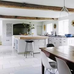 White Kitchen Floor Small Island With Chairs Ideas Design House Garden Units Limestone