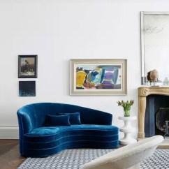 Pictures Of Modern White Living Rooms Old Hollywood Room Decor Ideas House Garden With Curved Blue Sofa