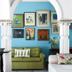 Ideas For Walls In Living Room Paintings Decor Feature Wall Bedroom House Garden Bright Blue