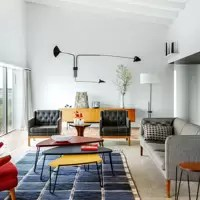 retro living room settee furniture modern ideas designs decorating open plan