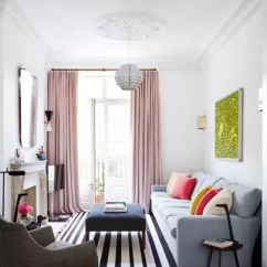 Furnishing A Tiny Living Room Striped Chairs Small Ideas House Garden How To Expand Narrow In This Notting Hill Town Interior Designer Suzy Hoodless Used Strong Clean Lines Emphasise The High Ceilings