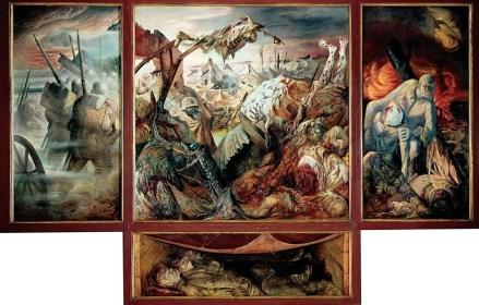 """La guerre """" (triptyque,1929-1932) d'Otto Dix (1891-1969)"""