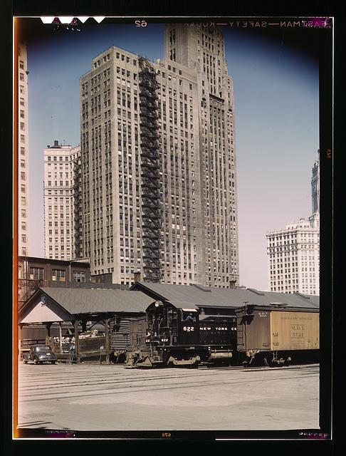 "The ""new east side"" was a freight yard in the 1940's (Library of Congress)"