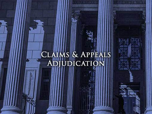 Claims & Appeals Adjudication