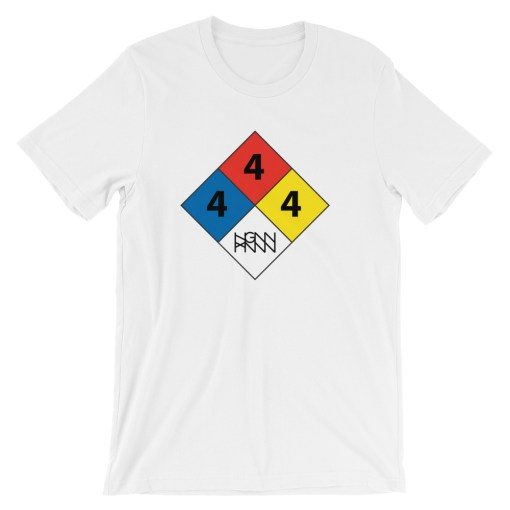 C291: HAZARDOUS MATERIAL (TEE) white