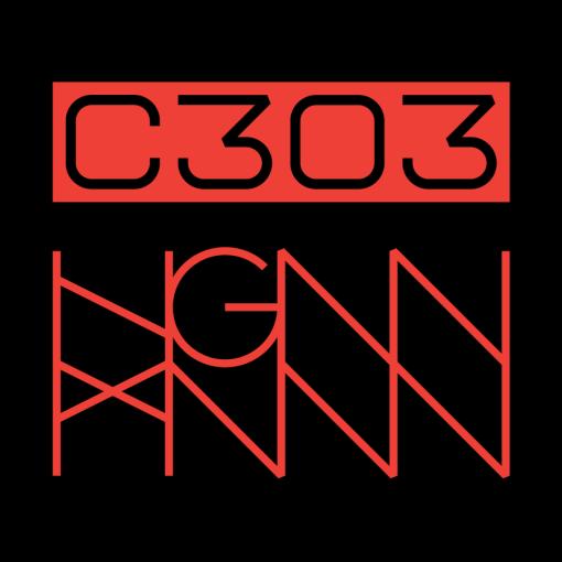C303: CORAL SNAKE back logo - black