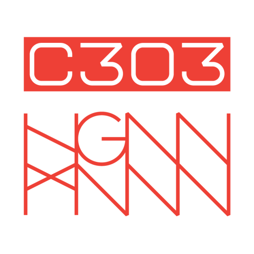 C303: CORAL SNAKE back logo - white