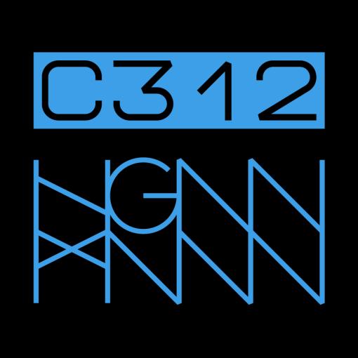 C312: RIPPED back label - black