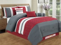 gray and red comforter set - 28 images - black gray red ...