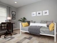 Soft Gray Office With Day Bed | HGTV