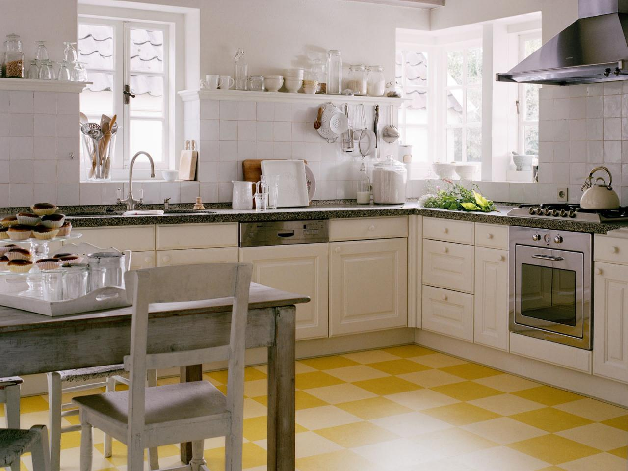 kitchen flooring tiles cheap rooster decor for linoleum in the hgtv