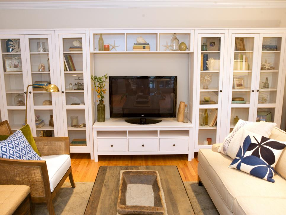 bookshelf in living room modern leather set 10 beautiful built ins and shelving design ideas hgtv shop this look