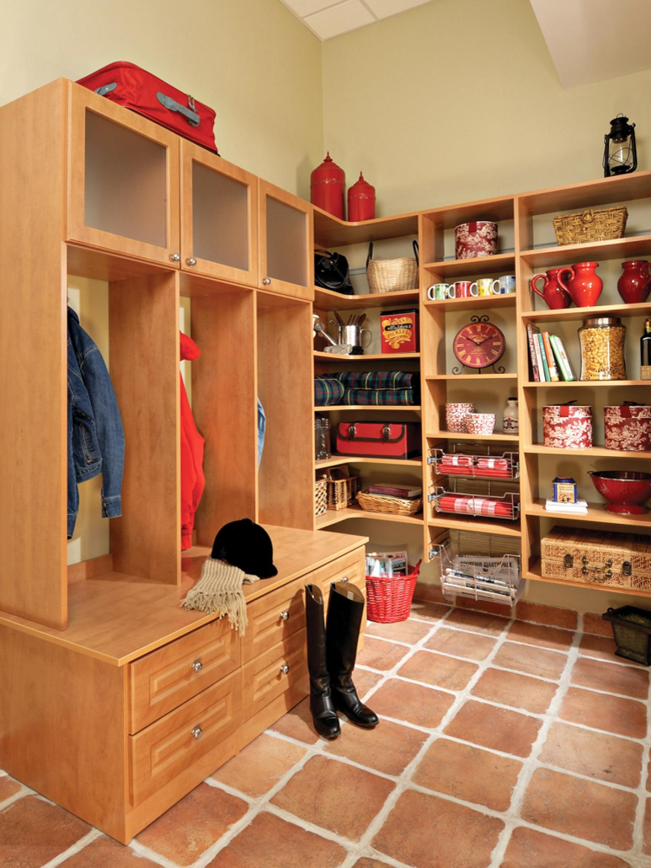 SmallSpace Mudroom Solutions  HGTV