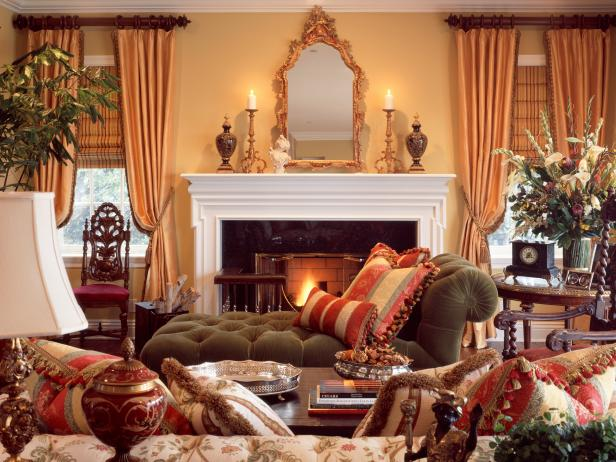 traditional pictures for living room shabby chic pics style 101 from hgtv multiple fabrics create