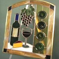 How to Make a Wine Bottle Stained Glass Panel | HGTV