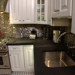 Kitchen Ceiling Tiles Distressed Table How To Install As A Backsplash Hgtv