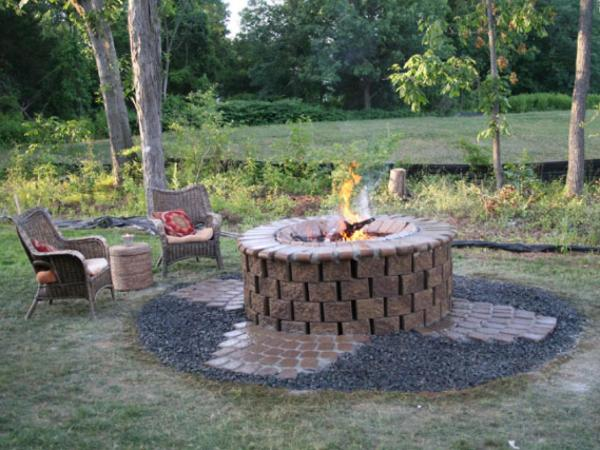 installing fire pit