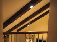 Faux Ceiling Beams Create Rustic Feel