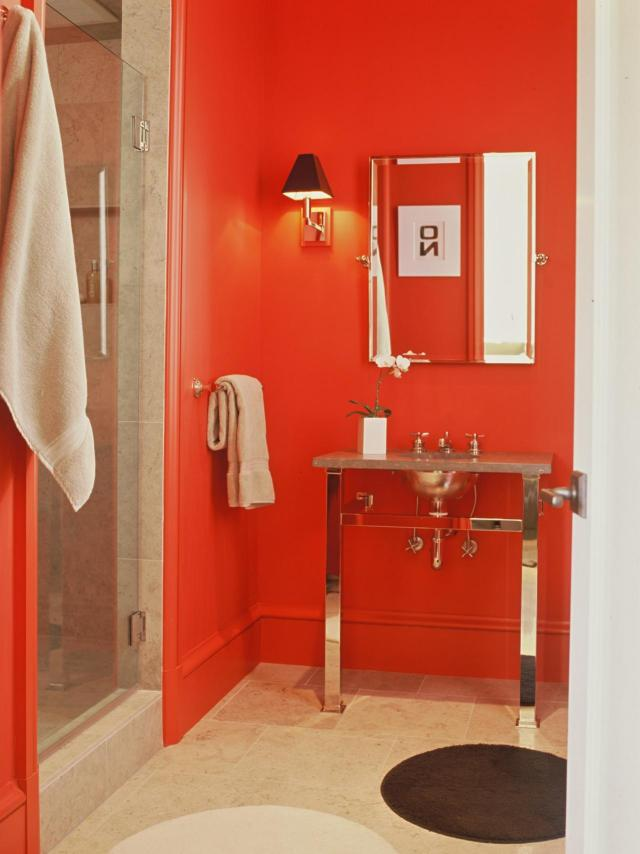 Red Bathroom Decor Ideas & Tips From HGTV