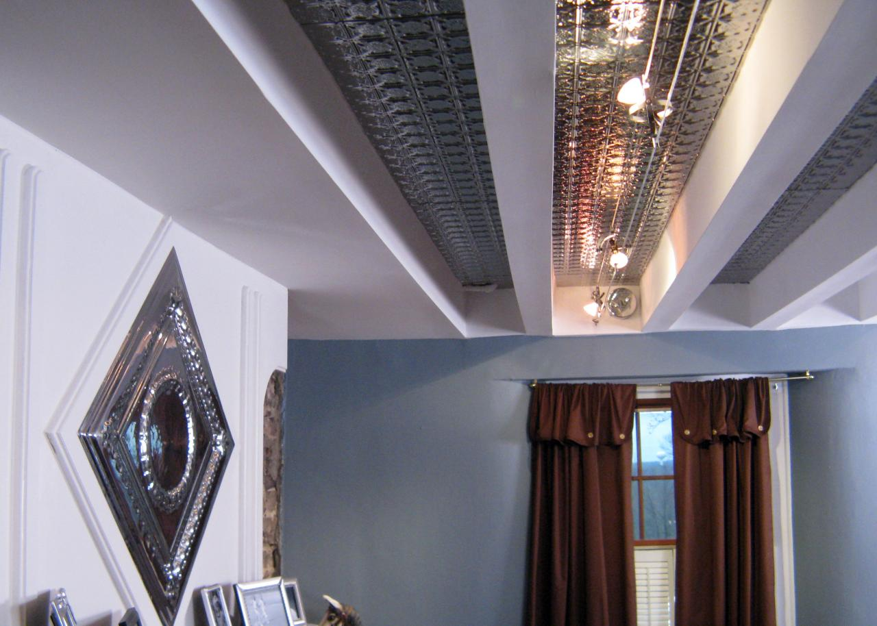 How to Install a Tin and Beam Ceiling HGTV