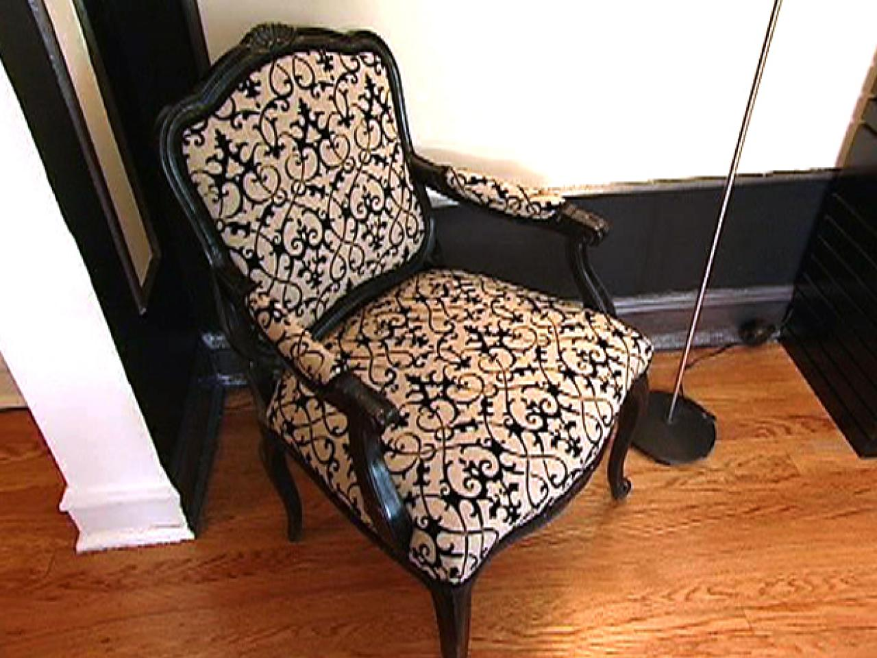 chair upholstery fabric oxo high how to re cover an upholstered hgtv