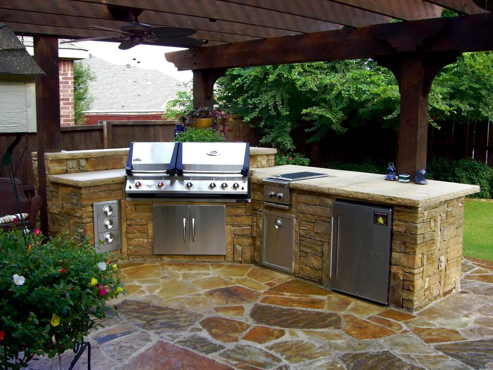 diy outdoor kitchen kits stainless steel counter cheap ideas hgtv shop this look