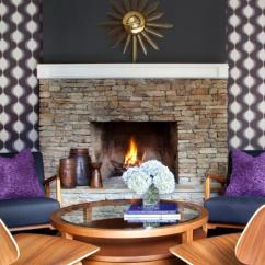 Living Room Fabrics Great Furniture How To Install Fabric Wallcovering Hgtv Midcentury Modern Sitting With Stone Fireplace