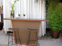 Build Outdoor Bar With Pebble Top