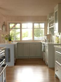 Neutral Cottage Kitchen with Large WIndows