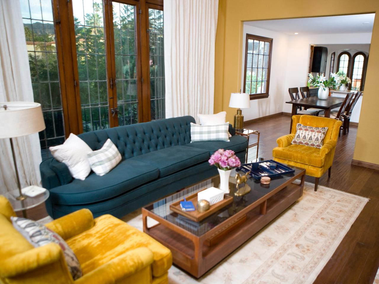 Yellow Living Room Chair Photos Hgtv