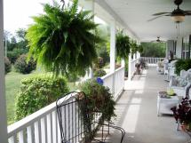 Front Porch with Wicker Furniture