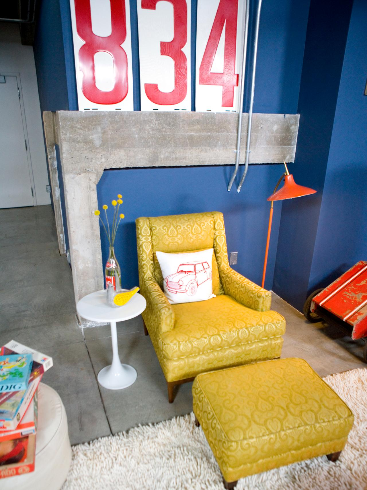 Yellow Living Room Chair Photo Page Hgtv
