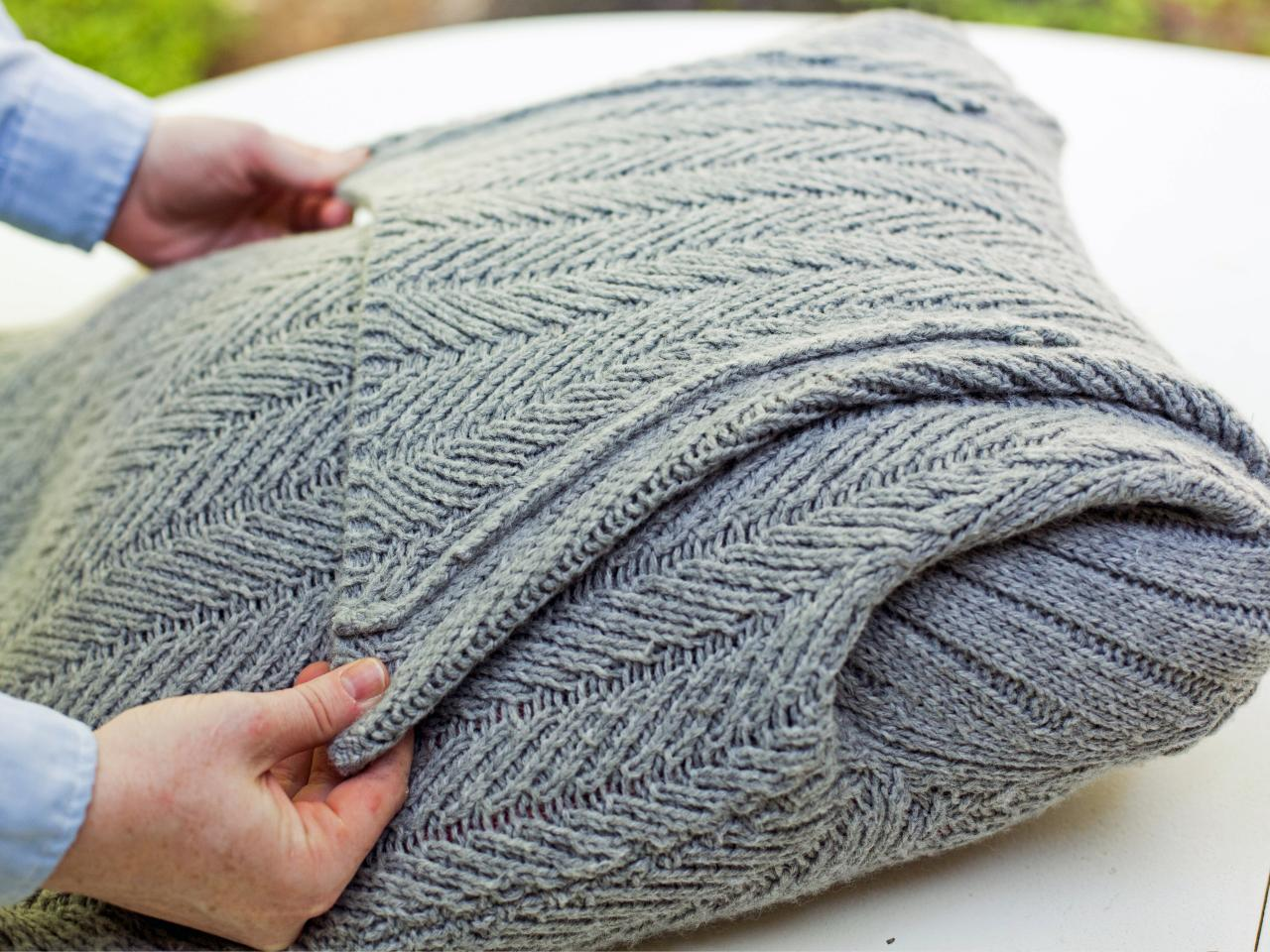 Turn an Old Sweater Into a Chic Preppy Pillow  HGTV