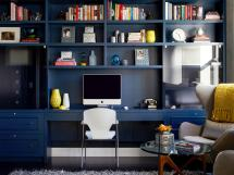 Blue and Yellow Home Office Ideas