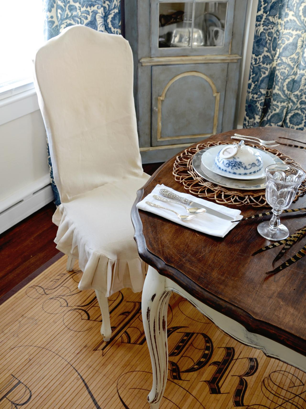 Cover For Chair How To Make A Custom Dining Chair Slipcover Hgtv