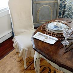 Wood Arm Chair Covers Groupon How To Make A Custom Dining Slipcover Hgtv White Slipcovered In Country Room