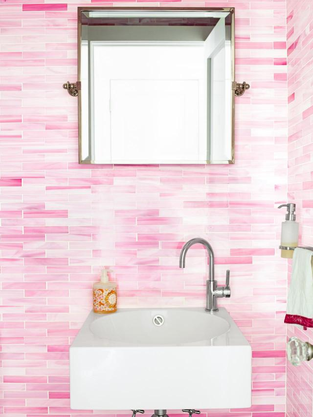 Unique 50 Pink Bathroom Design Decorating Inspiration 15 Chic