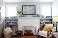 15 Gorgeous Painted Brick Fireplaces