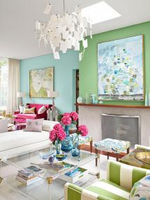 Blue Green Living Room Wall Color