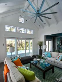 Contemporary Living Room Ceiling Fan