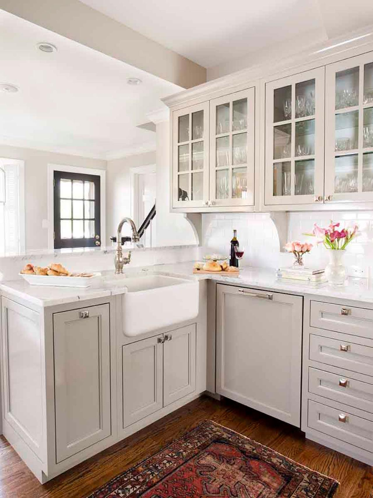gray kitchen cabinets aid dish washer transitional with and farmhouse sink