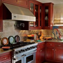 Red Kitchen Cabinets Www Kohler Faucets White Pictures Ideas And Tips From Hgtv